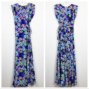 YUMI KIM Blue Floral Swept Away Maxi Dress